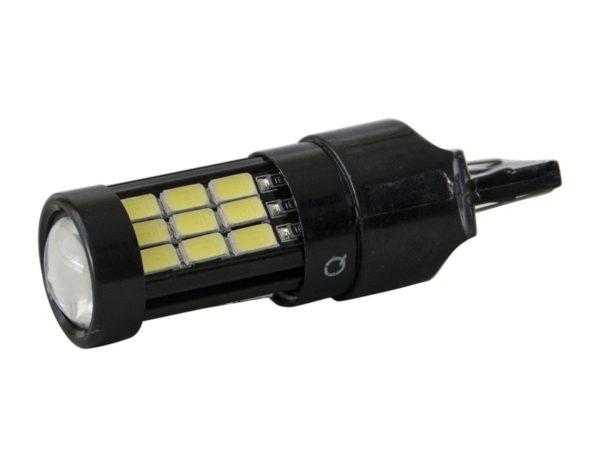 Комплект светодиодных ламп SVS W21W/7440-29SMD 5630 Белый с линзой 1