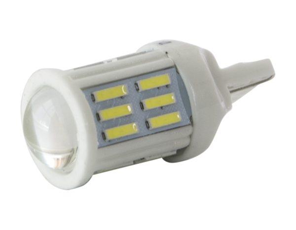 Светодиодные лампы W21W/7440-27SMD 7020, корпус керамика, белый 1