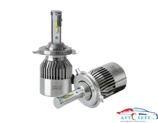 Комплект светодиодных ламп SVS H4 серии C9 ( CSP-чип/IP68/4000Lm/5500K/9-32V/36W) 1