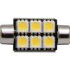 Светодиодная лампа MTF SV 8,5 10X36mm 6 LED салонная 12V с обманкой 5000К Белый 1 ШТ 2