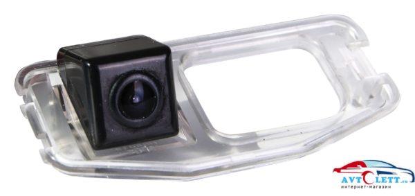 Камера заднего вида штатная с LED HONDA CR-V{2007-2009}/Fit{2007-2014}/Odyssey{2008-}/Crosstour матрица CMOS, угол обзора 170, питание 12В, парк линии 1