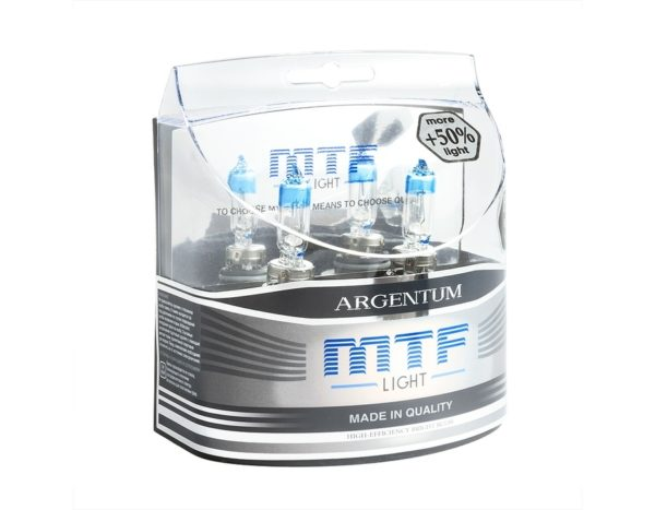 Комплект галогенных ламп MTF Light НB3 65WArgentum+50% 1