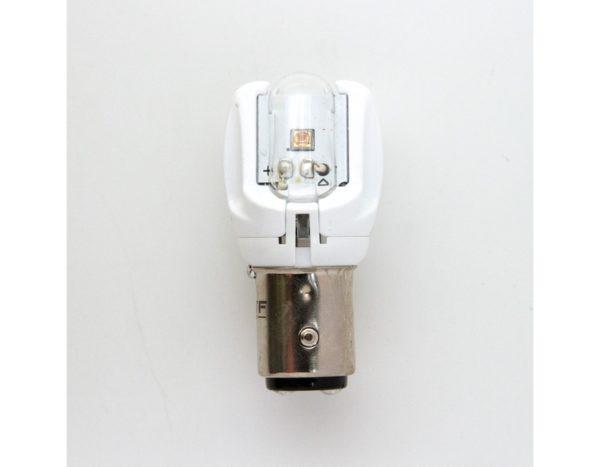 Лампа светодиодная MTF P21/5W, цвет красный, 12В, 2.6Вт, блистер 1