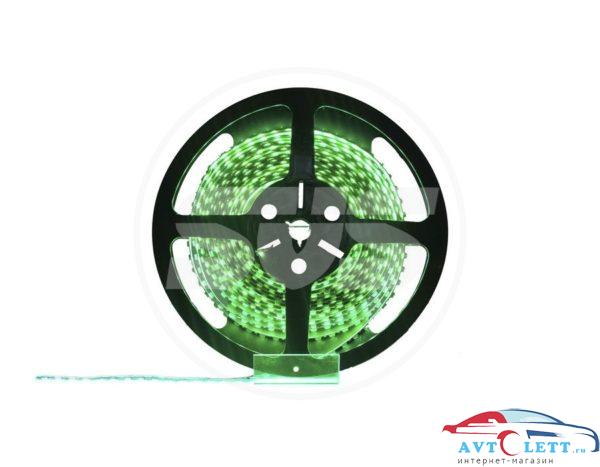 Светодиодная лента, 3528,120LEDs/M,9.6W/m, IP30, 12V DC - бобина Зеленая 1