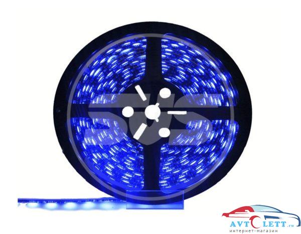 Светодиодная влагозащищенная лента, 3528,120LEDs/M,9.6W/M,12V DC,IP65 5M- бобина Синяя 1