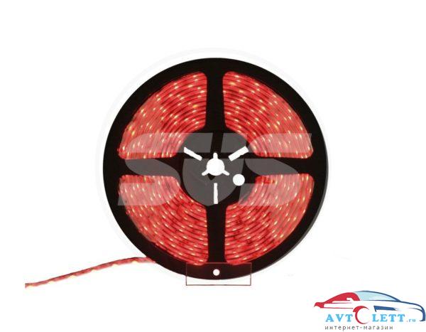 SVS Светодиодная влагозащищенная лента, 3528,30LEDs/M,2.4W/M,12V DC,IP65 5M -Красная 1