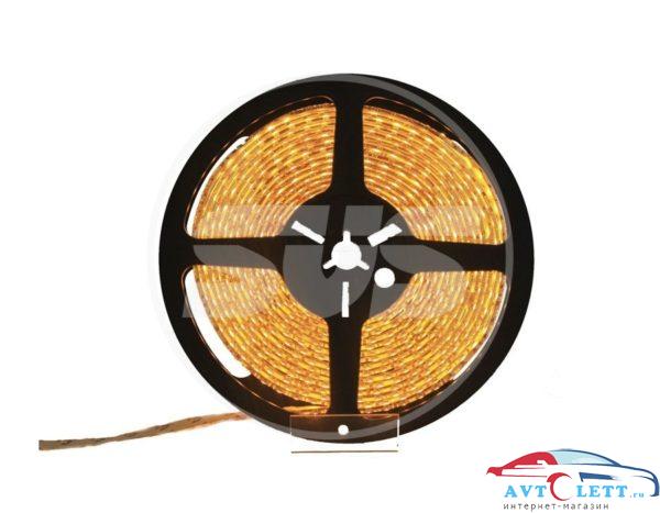 Светодиодная влагозащищенная лента, 3528,60LEDs/M,4.8W/M,12V DC,IP65 5M- бобина Желтая 1