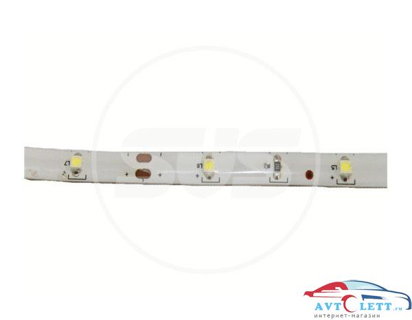 SVS Светодиодная влагозащищенная лента, 5050-SMD,30LEDs/M,7.2W/m,IP65, 12V DC 5M- бобина Белая 1