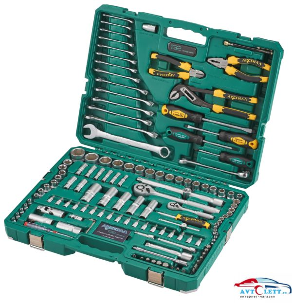 Набор инструмента 132 предмета AUTO (AA-C1412P132) Арсенал 1