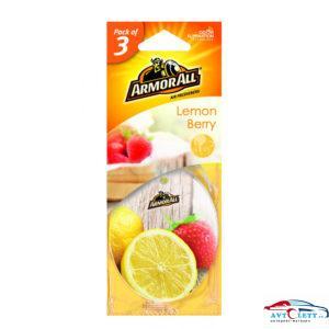 Ароматизатор воздуха бумажный. Аромат лимонно-ягодный (3 шт.) NEW