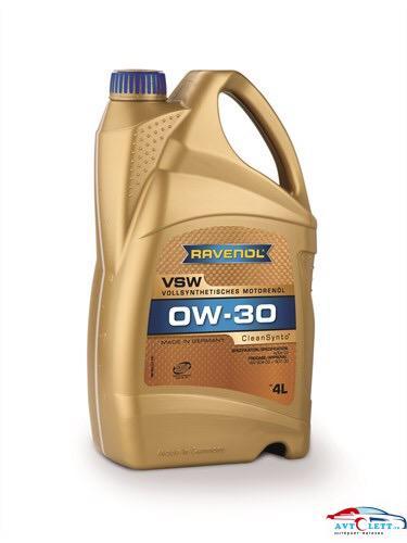 Моторное масло RAVENOL VSW SAE 0W-30 ( 4л) new 1
