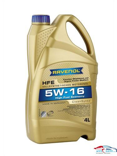 Моторное масло RAVENOL High Fuel Economy HFE SAE 5W-16 ( 4л) new 1
