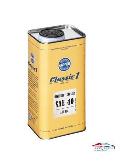 Моторное масло RAVENOL Oldtimer Classic SAE 40 (1л) 1