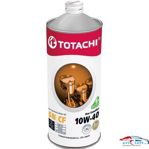 Масло моторное п/синтетика TOTACHI Eco Gasoline SN/CF 10W-40 1л