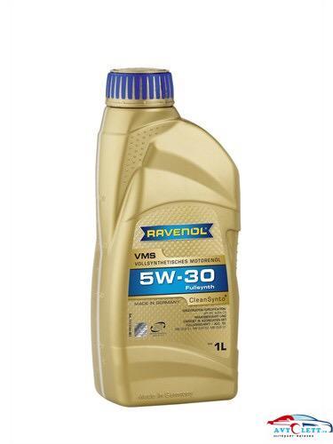 Моторное масло RAVENOL VMS SAE 5W-30 (1л) new 1