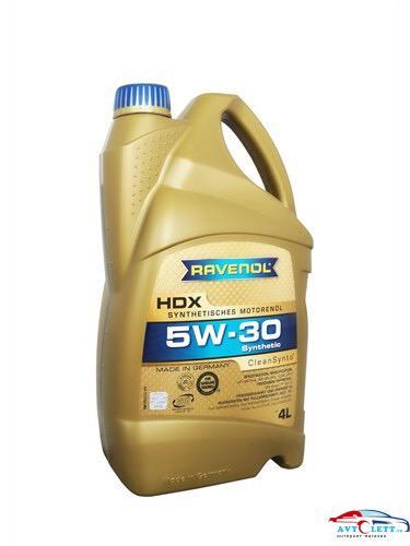 Моторное масло RAVENOL HDX SAE 5W-30 (4л) 1
