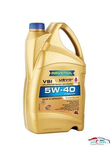 Моторное масло RAVENOL VSI SAE 5W-40 ( 4л) new 1