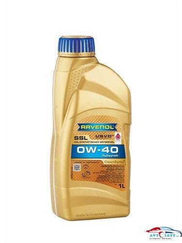 Моторное масло RAVENOL Super Synthetik Oel SSL SAE 0W-40 ( 1л) new 1