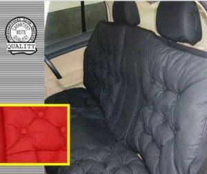 Чехол на сиденье объемный Люкс (задний - красный)