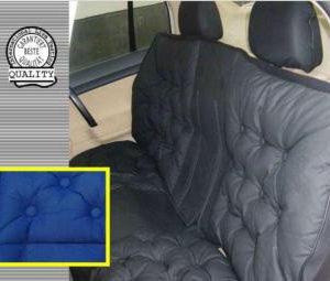 Чехол на сиденье объемный Люкс (задний - синий)
