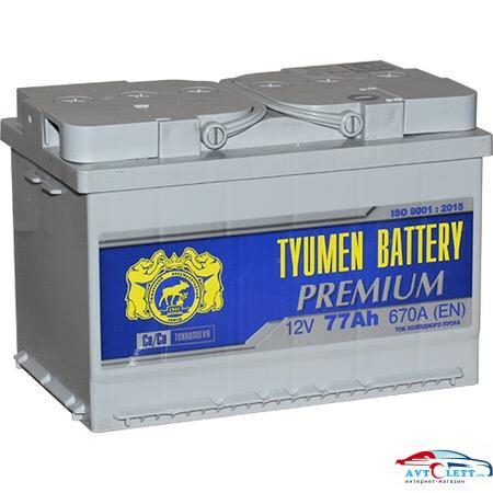 Аккумулятор ТАЗ TYUMEN BATTERY PREMIUM 77Ач 1
