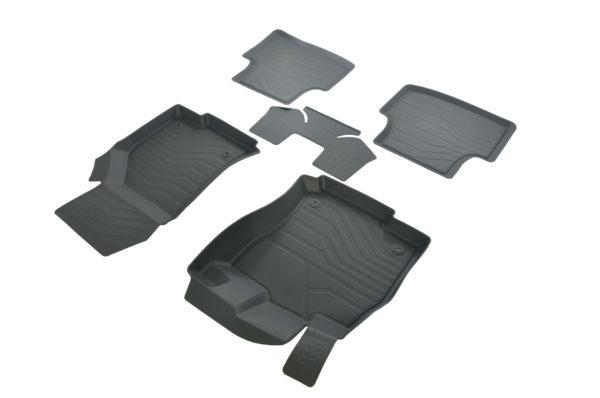 Коврики резиновые в салон 3D PREMIUM для Skoda Oktavia-A7 (2013-) 1