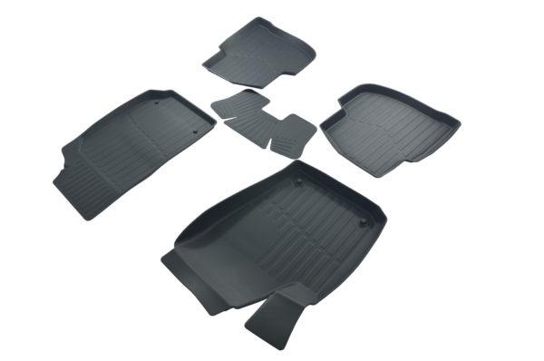 Коврики резиновые в салон 3D PREMIUM для Volkswagen Polo SD (2009-) 1