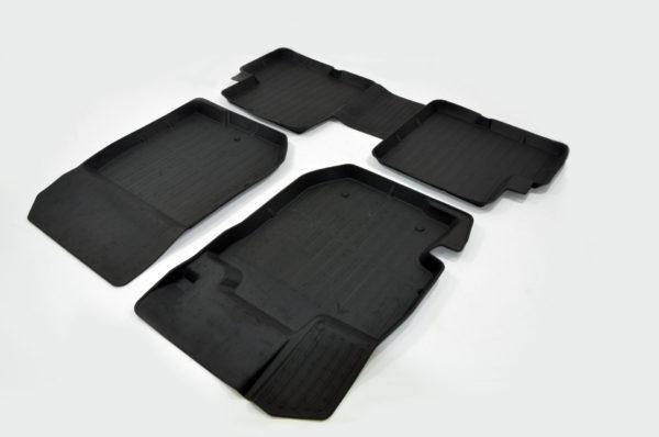 Коврики резиновые в салон 3D PREMIUM для Nissan Almera (2012-) 1