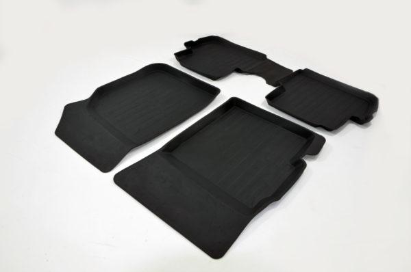 Коврики резиновые в салон 3D PREMIUM для Chevrolet Spark (2010-2015) 1