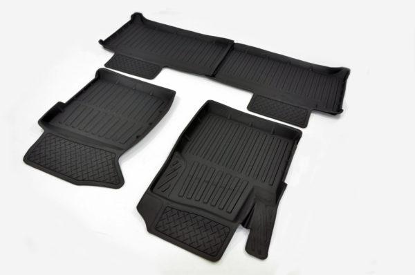 Коврики резиновые в салон 3D PREMIUM для Ford Focus III SD/HB/UN 2010-2019 1