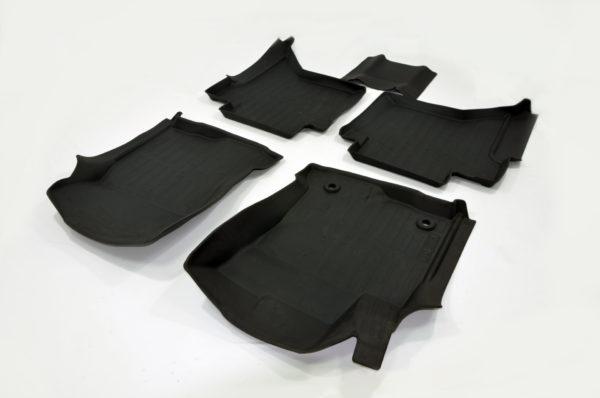Коврики резиновые в салон 3D PREMIUM для Toyota Hilux (2015-) 1