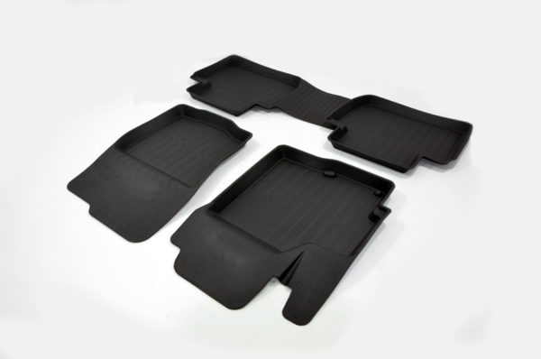 Коврики резиновые в салон 3D PREMIUM для Mitsubishi Outlander III (2012-) 1