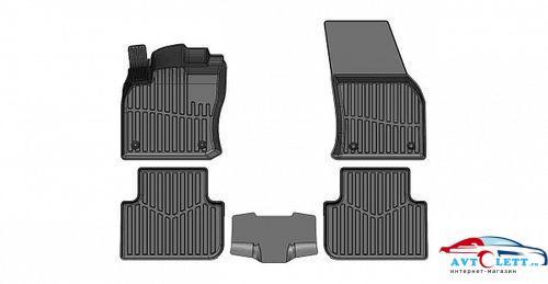Коврики резиновые в салон 3D PREMIUM для Volkswagen Tiguan I (2007-2016) 1