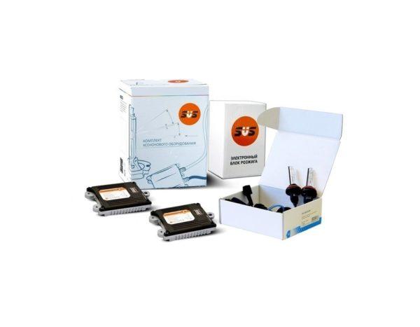Комплект ксенонового оборудования (Блок SLIM AC 9-32В 35Вт-2шт, Лампа ксеноновая AC HB3 4300K-2шт) 1