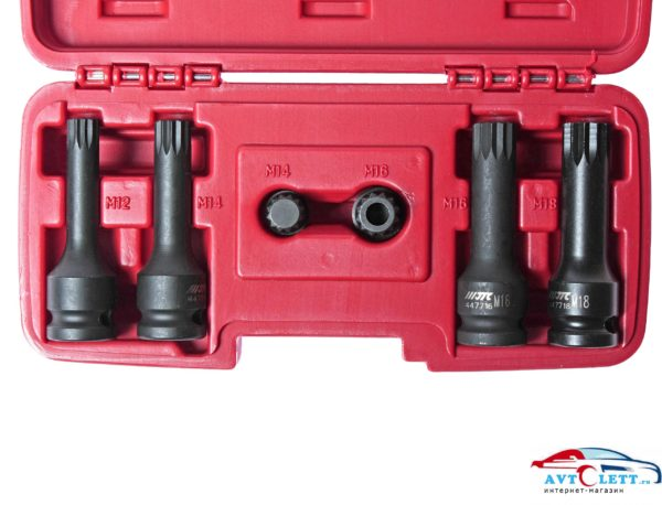 Набор сервисных головок 12-гранных (VW, AUDI) 6шт JTC /1 1