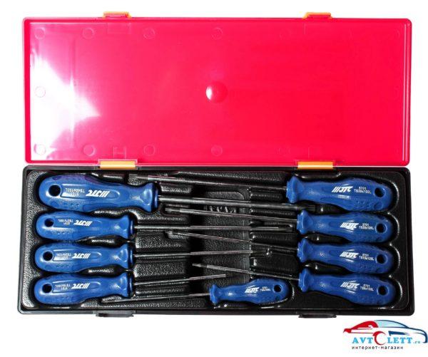 Набор отверток TORX 5-гранных с отверстием TS8H-TS40H (в кейсе) 9шт JTC /1 1