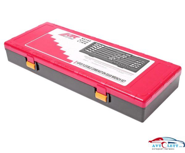 Набор ключей комбинированных трещоточных с подвижной головкой 8-19мм (в кейсе) 14 предметов JTC /1 1