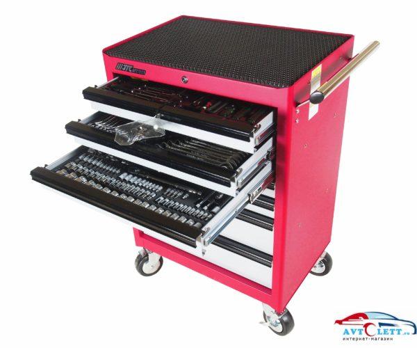 Тележка инструментальная JTC-3931 (7 секций) в комплекте с набором инструментов JTC-39311+39312+39313 164 пр. JTC /1 1