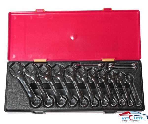 Набор ключей комбинированных укороченных 6-19мм (в кейсе) 14шт JTC /1 1