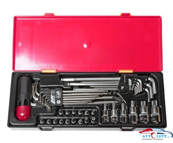Набор инструментов TOPX, HEX (ключи, головки с насадками) в кейсе 40 предметов JTC /1 1