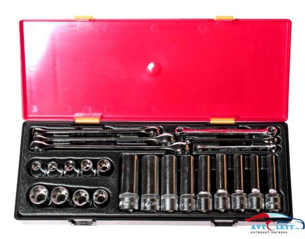 Набор инструментов TOPX (ключи Е6-Е24, головки Е10-Е24) в кейсе 24 предмета JTC /1 1