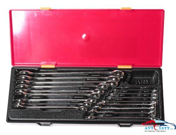 Набор ключей комбинированных с зеркальной полировкой 6-23мм (в кейсе) 17шт JTC /1 1