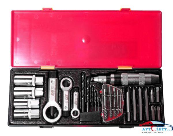 Набор инструментов для демонтажа крепежных элементов с поврежденной резьбой (в кейсе) 26 предметов JTC /1 1