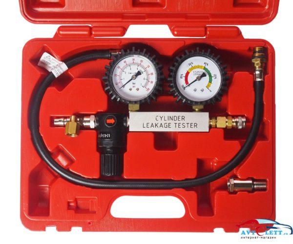 Набор для выявления утечек в цилиндрах, диапазон измерений 0-100PSI(0-700кПА) в кейсе JTC /1 1