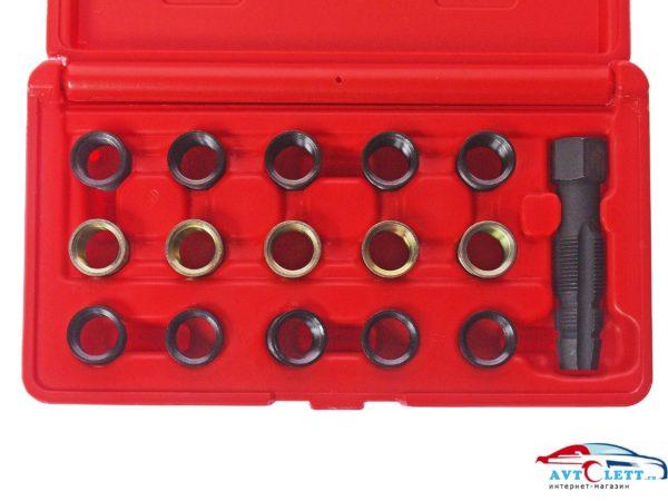 Набор для восстановления резьбы свечей зажигания (втулки M14x1.25, длина 11.2мм (5шт), 17.5мм (8шт) JTC /1 1