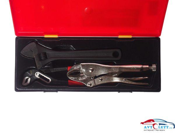 """Набор инструментов 10"""" (ключ разводной, клещи переставные и с фиксатором) в кейсе 3 предмета JTC /1 1"""