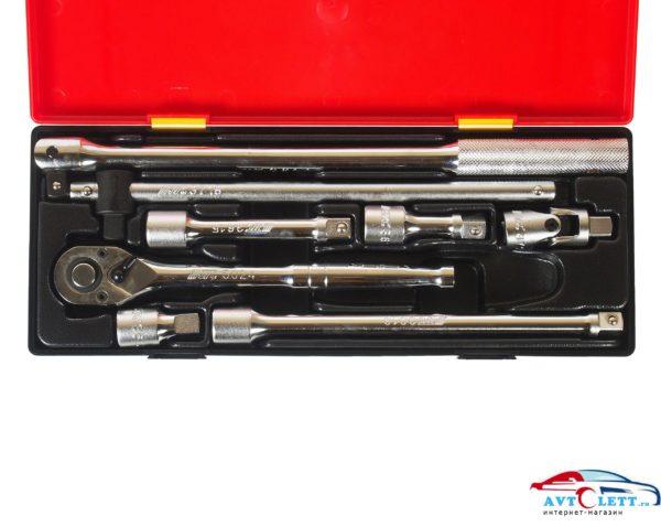 """Набор инструментов 1/2"""" (удлинители, воротки, трещотка) в кейсе 8 предметов JTC /1 1"""