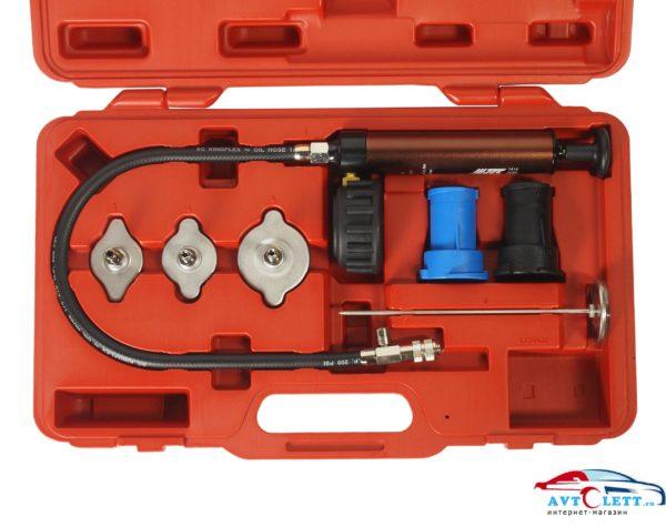 Набор для тестирования герметичности охладительной системы (7 ед) в кейсе JTC /1 1