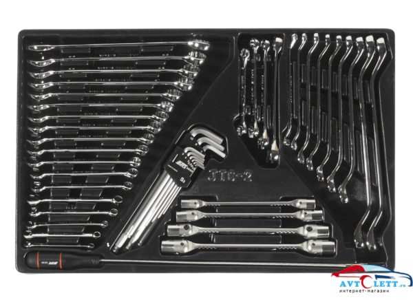 Набор инструментов для тележки инструментальной JTC-3931 (2-я секция) 45 предметов JTC 1