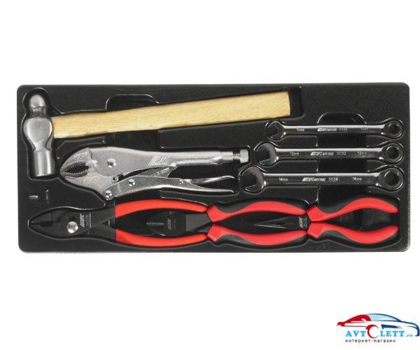 Набор инструментов в переносном инструментальном ящике (3 лотка) 65предметов JTC /1 1